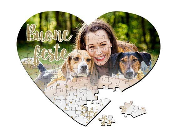 Puzzle cuore A3 White Christmas