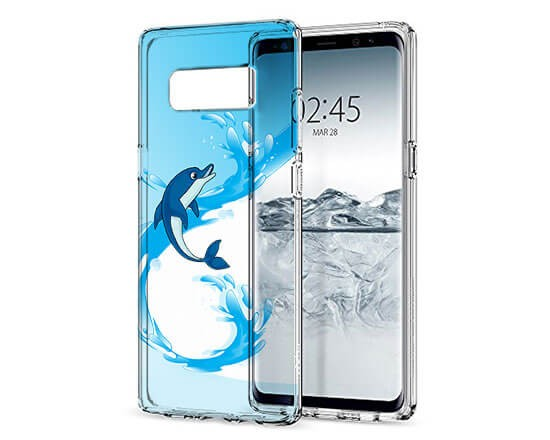 Cover Trasparente Galaxy Note 8 Delphin