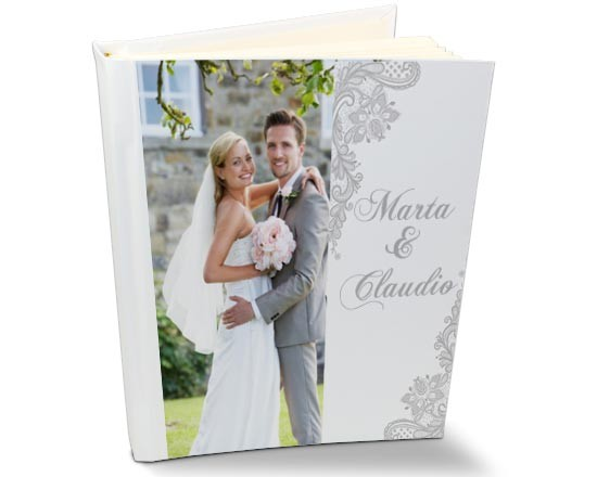album retro in pelle per matrimonio