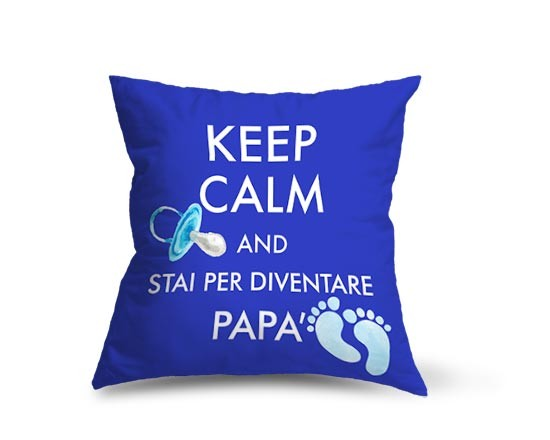 Cuscino dainetto Keep calm dad