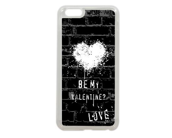 Cover iPhone 6 plus con cuore bianco