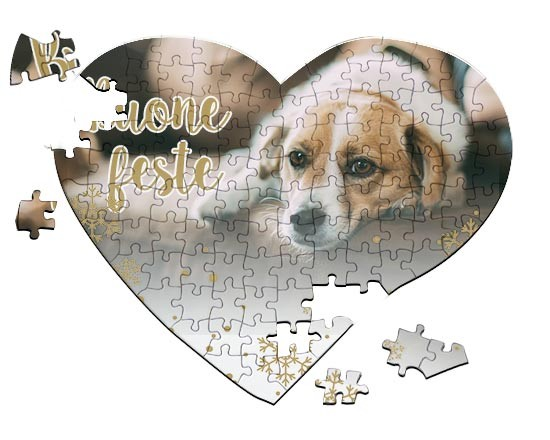 Puzzle cuore A4 White Christmas