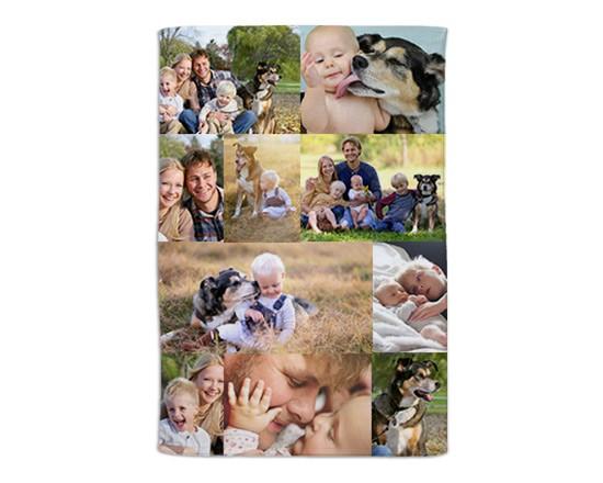 Coperta Personalizzata Con Foto.10 Riquadri Coperta Collage Fotoregali Com