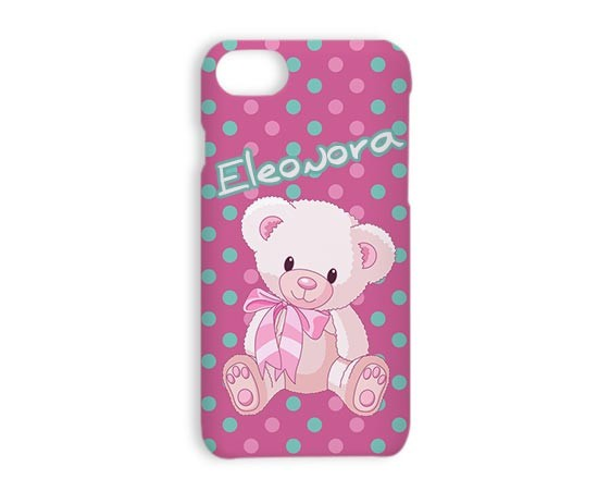 Cover iPhone 7 3D Pink bear