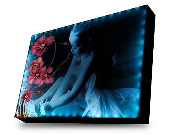 Tela led con grafica di Orchidee
