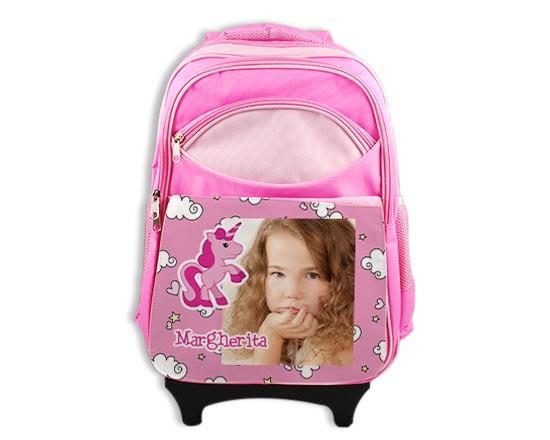 Zaino trolley unicorno rosa fotoregali