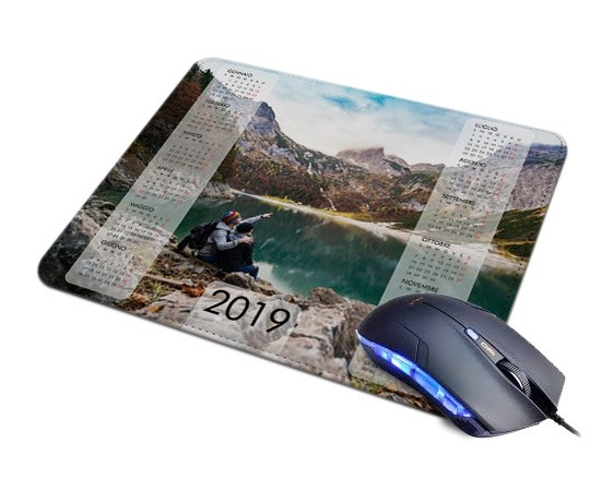 Mousepad in pelle con calendario