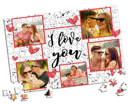 Puzzle A3 I love you collage