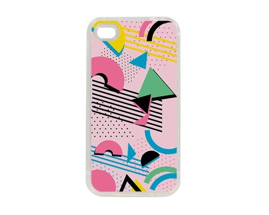 Cover in silicone iPhone 4-4s grafica moderna