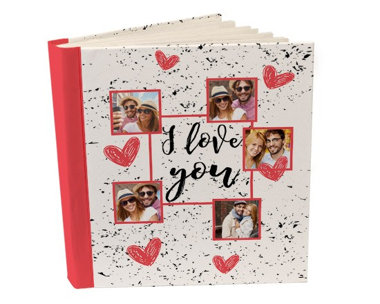 Album 26x30 con tasche I love you collage