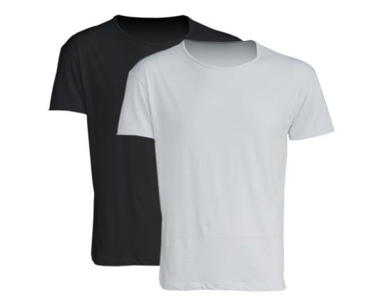 abd5a78e1 T-shirt in cotone fiammato uomo bianca e nera