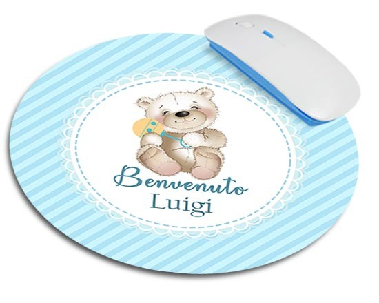 Tappetino mouse tondo Teddy Bear