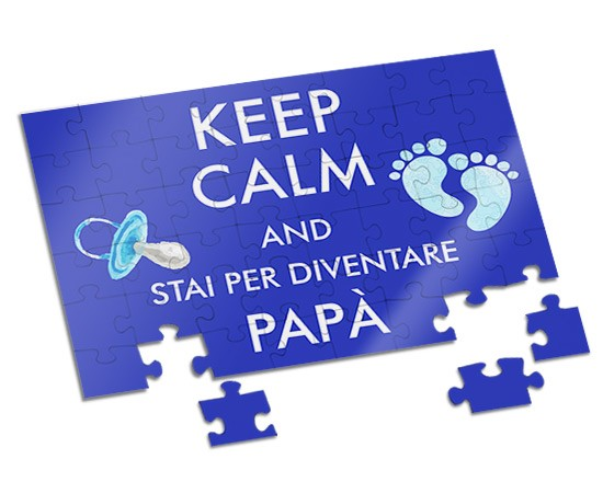 Puzzle A4 Keep calm dad