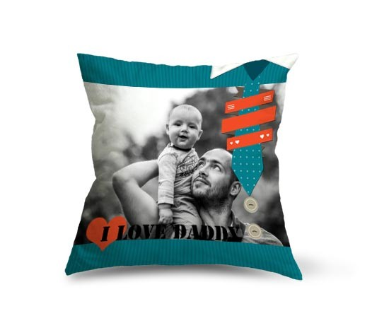 Cuscino in pile I love daddy