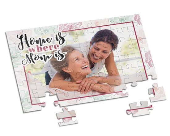 Puzzle A4 Home is mom
