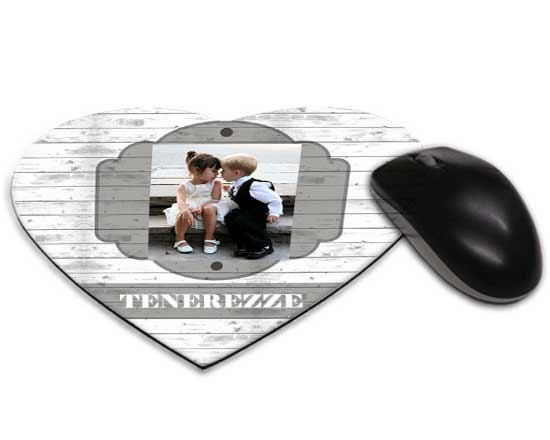 Mouse tappetino cuore Simple grey