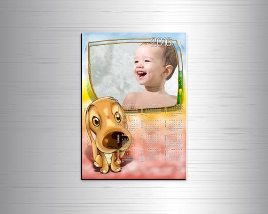 Calendario magnetico A4 Sweet dog