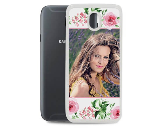 Cover in silicone Galaxy J7 Flowers - 2017