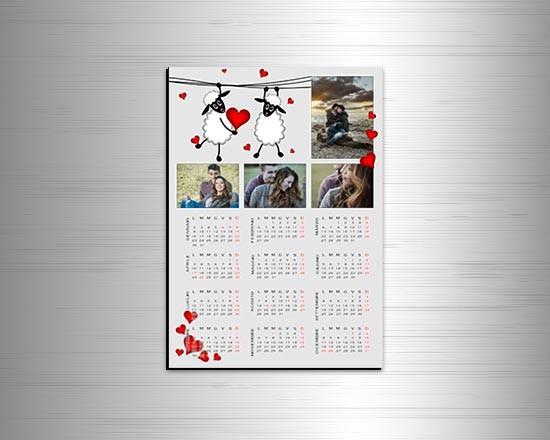 Calendario magnetico A4 Sweet sheep