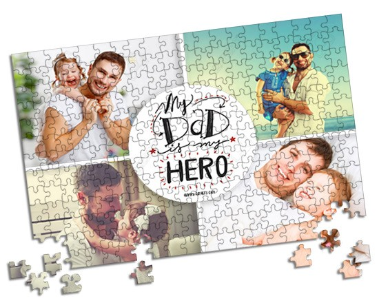 Puzzle A3 Dad is my hero