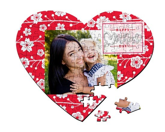 Puzzle cuore A3 Mother's day