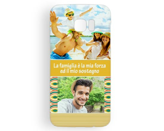 Cover Galaxy s7 Edge 3D Yellow collage