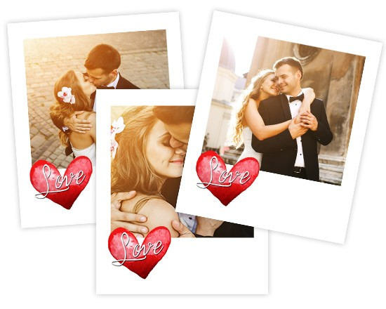 Polaroid Magnetiche Love in heart