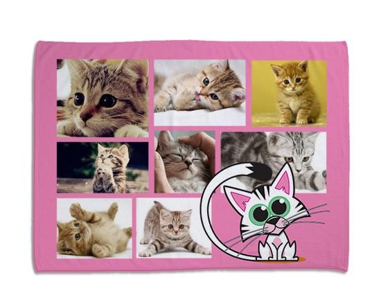 Coperta per gatti collage rosa fotoregali