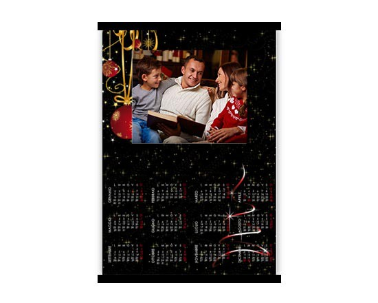 Calendario A4 Christmas in the dark