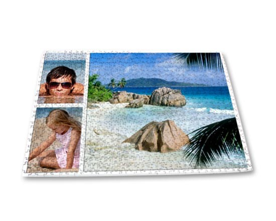 Collage di foto su puzzle 40x60 cm.