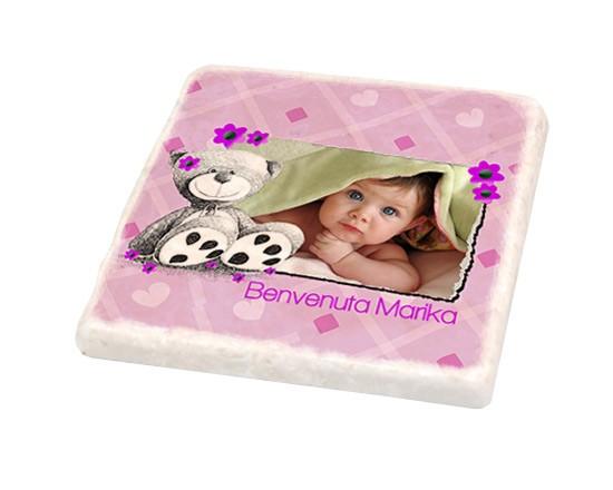 Mattonella vintage orsetto rosa fotoregali