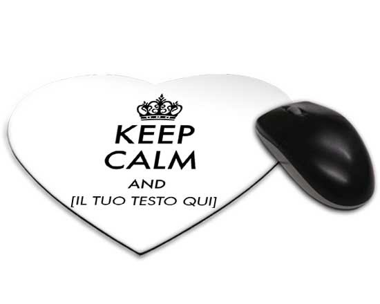 Tappetino Mouse Cuore keep calm