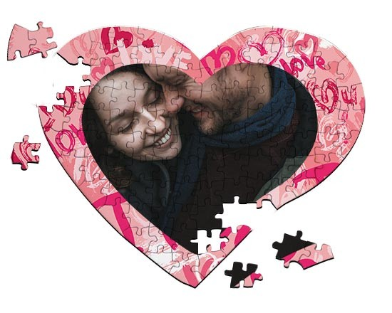Puzzle cuore A4 Words of love