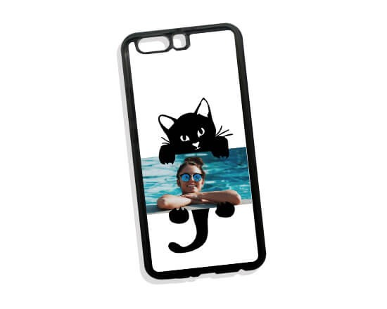 Cover in Silicone Huawei P10 Plus Black Cat