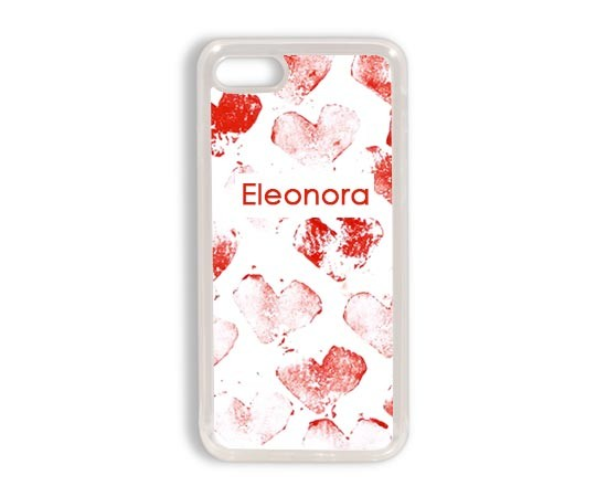 Cover in silicone iPhone 7 con cuori