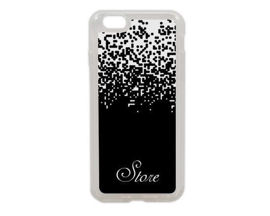 Cover in silicone iPhone 6 con pixel