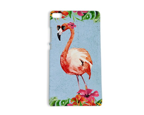 Cover Huawei P8 3D Fenicottero vintage