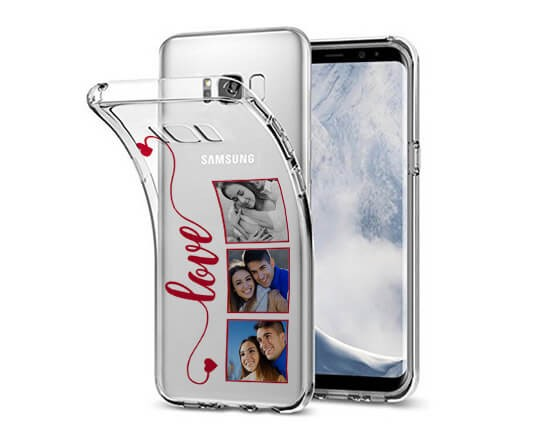 Cover Trasparente Galaxy S8 Plus Frame Love