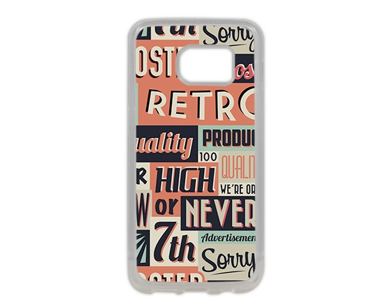 Cover Galaxy S7 in Silicone Vintage words