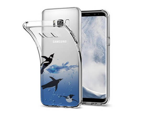 Cover Trasparente Galaxy S8 Plus Pinguini