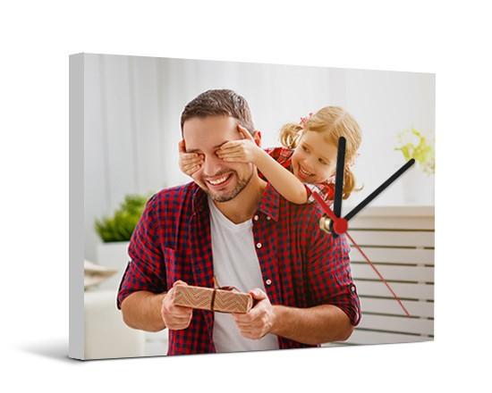 Orologi Da Parete In Tela : Orologio tela personalizzato fotoregali