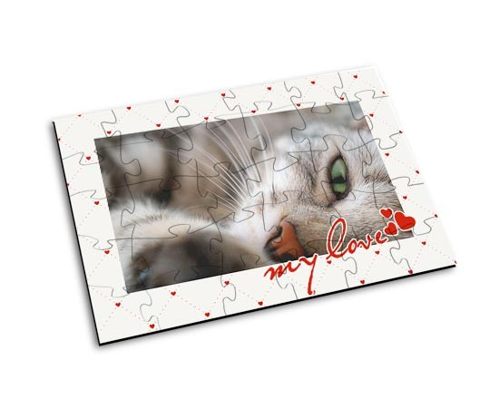 puzzle in legno small con grafica love